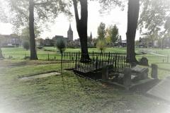 Oude begraafplaats Winterswijk met op de achtergrond het Scholtenbrugpark